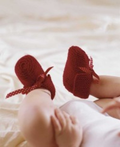Knitted Booties Photo from How Stuff Works.  http://home.howstuffworks.com/free-baby-bootie-knitting-patterns.htm/printable