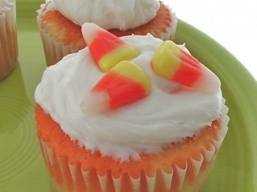 Candy corn cupcakes made for Halloween Treats