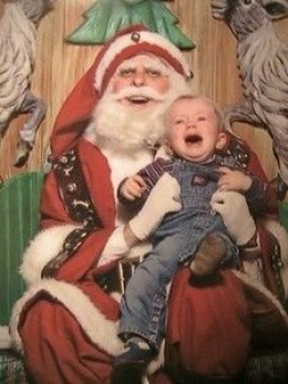 OK, I would be crying if I had to sit on this Santa's lap!