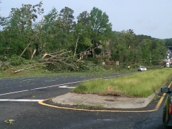 Alabama Highway 280 near Birmingham the morning of 4/27/2011