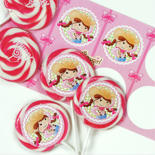 Cowgirl Favor Lollipops