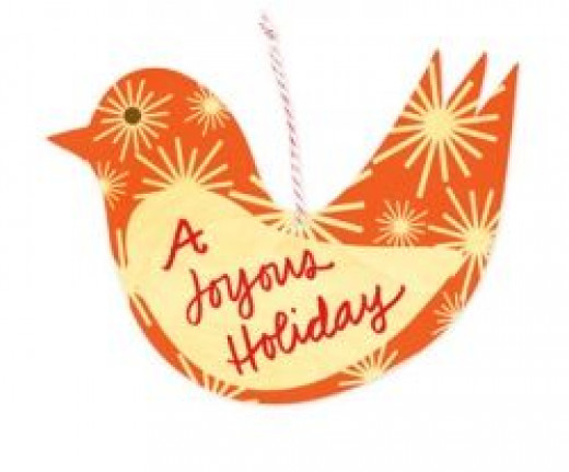 Joy Bird Greeting/ornament from Night Owl Paper Goods
