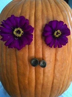 Added two acorn caps for the nostrils on my pumpkin galore!