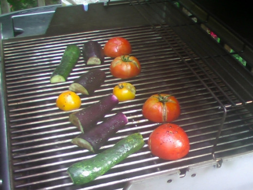Cooking outdoors! No mess! Yes.