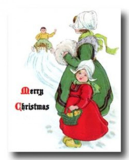 Free Christmas Card from KarensWhimsy.org