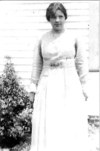 Ruth Vining in light colored dress